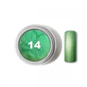 Nail Art Color Gel Metallic Collection 14 Mint